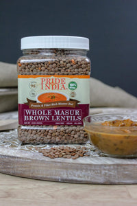 Protein & Fiber Rich Whole Masoor Brown Lentils