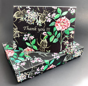 Vintage Wild Bug Thank You Card Set of 10