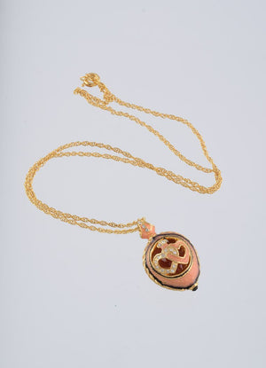 Peach Love Egg Pendant Necklace
