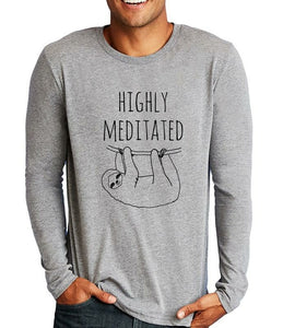 Highly Meditated Sloth Shirt