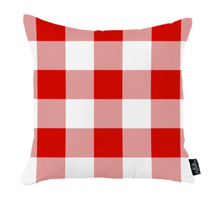 Santa Claus, Noel text and Christmas plaid designs Printed Pillow Cover