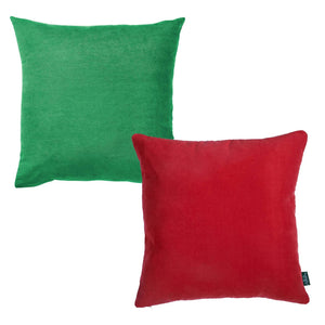 Printed Merry Christmas Decorative Throw Pillow Covers Set