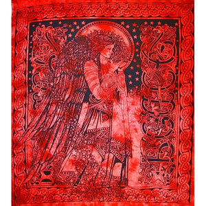 Angel of Peace Tie Dye Tapestry
