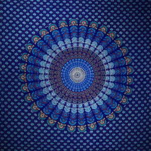 Peacock Dance Mandala Tapestry