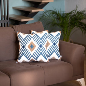 Ikat Pattern Decorative Square Throw Pillow Cover