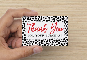 Thank you for your purchase Card