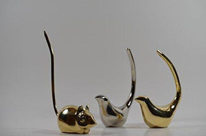 Handcrafted Table Top Bird Figurines - Jewelry Ring Stand