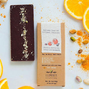 Orange Quinoa with Turmeric Chocolate Bar