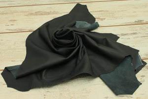 Real Black Leather Lambskin DIY Craft