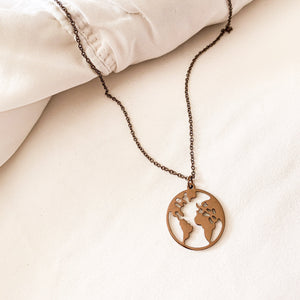 Stainless Steel My World Necklace