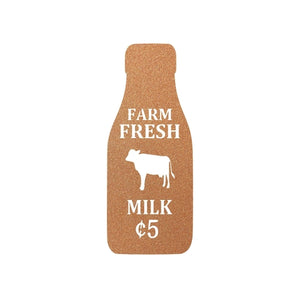 Farm Fresh Milk Metal Art Sign