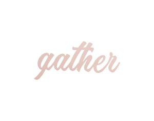 Gather wall hanging