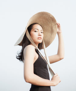 Wide Brim Jute Straw Hat