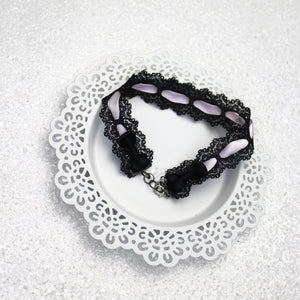 French-inspired Lace Bow Necktie