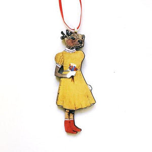 Dress Otter Holiday Ornament