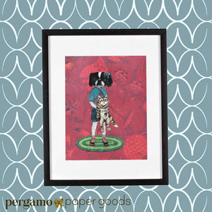 Bertha and her Cat Art Print