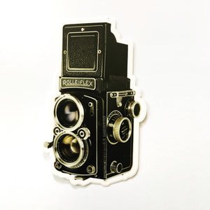 Antique Camera Vinyl Sticker
