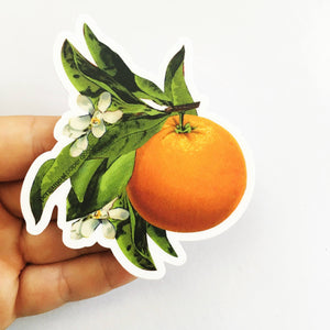 Orange Blossom Vinyl Sticker