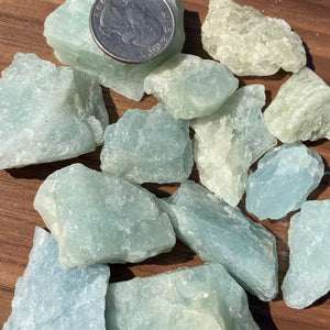 Raw Grade Aquamarine Raw Stone crystal