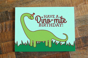 Dinosaur Print Birthday Card