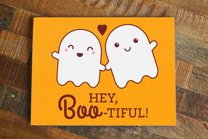Hey Boo-tiful-Funny Ghosts Love Card