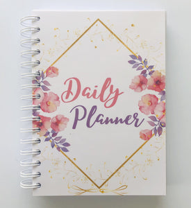 Daily Planner - Undated, Floral and Gold