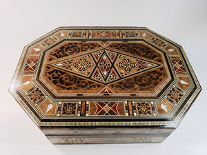 Mother of Pearl Syrian Mosaic Jewelry Box