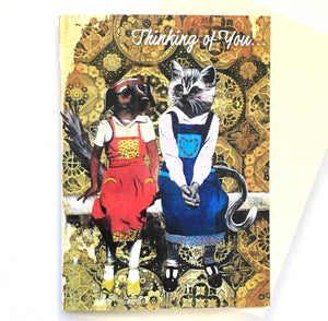 Thinking of You Dog and Cat Friends Card