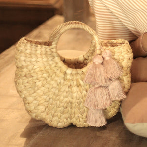Shell Hyacinth Straw Bag