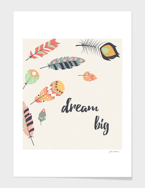 Dream big tribal feathers Frame