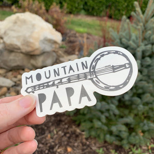 Mountain Papa - Die Cut Sticker