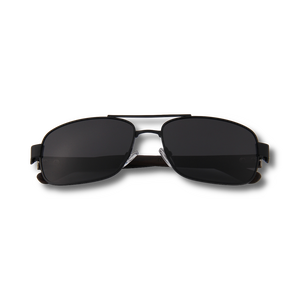 Real  Wood Black Frame Slim Aviators