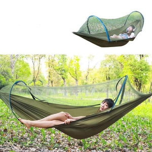 2 Person Portable Outdoor Mosquito Net 260x150cm Parachute Hammock