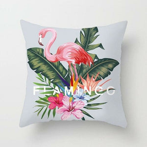 Tropical Plant Printed, Summer Style Pillow Cover