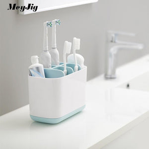 Automatic Toothpaste Dispenser and Toothbrush Holder
