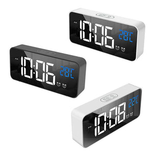 LED Digital Alarm Clock Intelligent Voice Control With Snooze