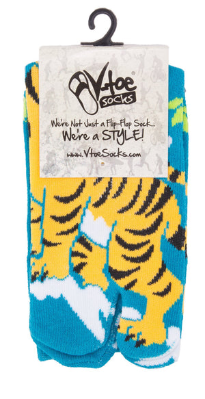 Flip Flop Socks - Tiger Pattern