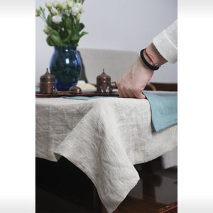 Natural Linen Table Cloth