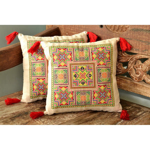 Embroidered NeedlepointTassel Pillow Cover