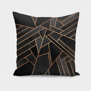 Black Night  Cushion Pillow Cover
