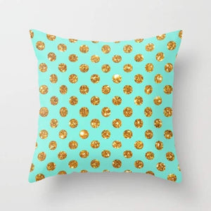 Glitter Dots Pattern Pillow
