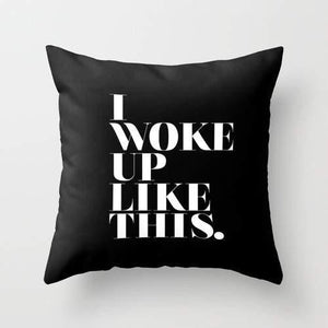 I woke up like this Pillow Cover