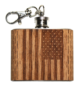 Flag Keychain Flask