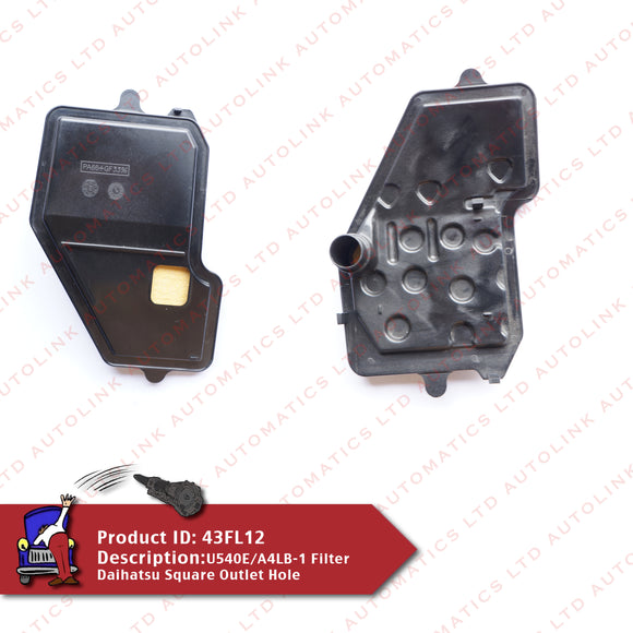 U540E/A4LB-1 Filter Daihatsu Square Outlet Hole