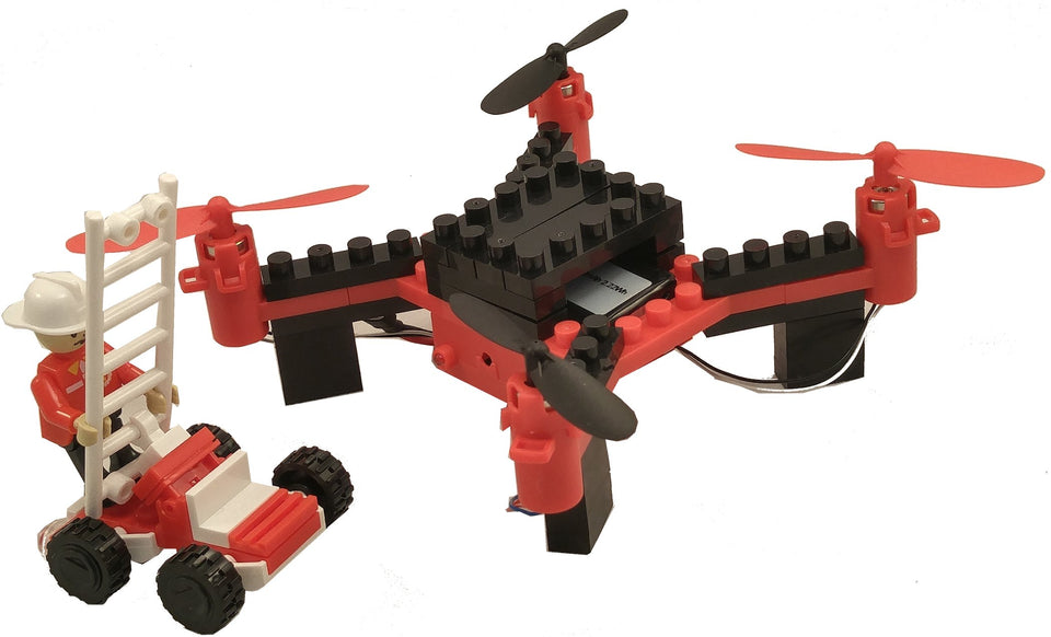 DIY Building Block Fly n Drive Fire Drone