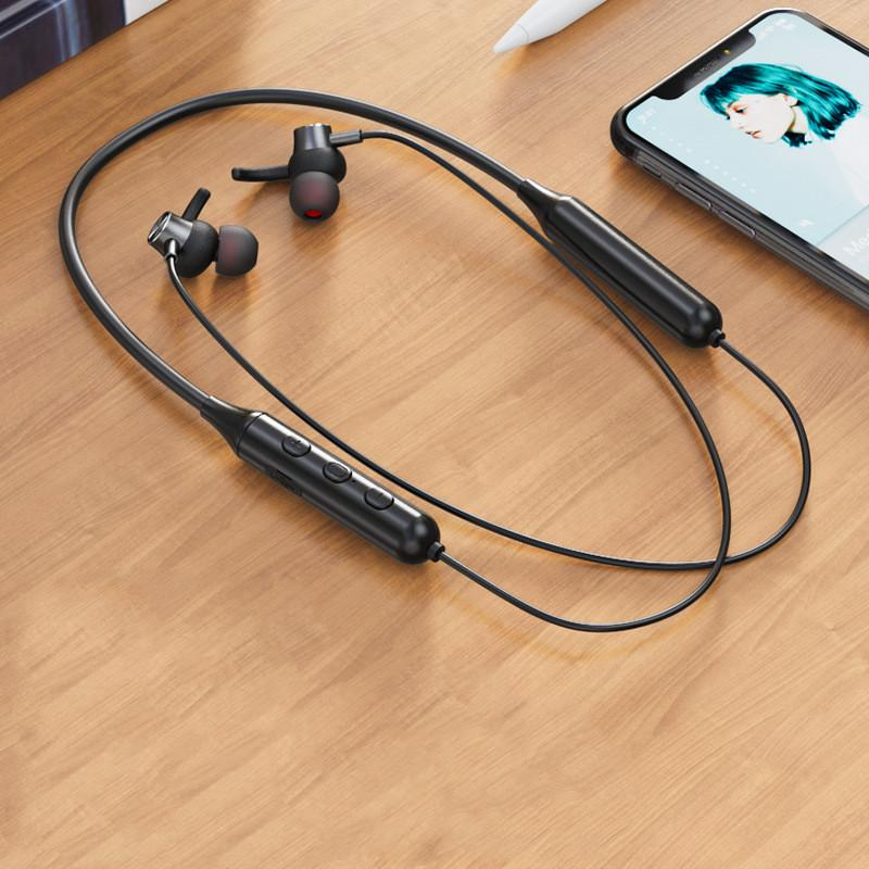 Magnetic Sucker Neck Sports Bluetooth Headset True Stereo High-Quality