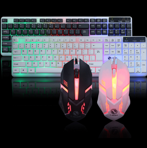 Backlit keyboard and mouse