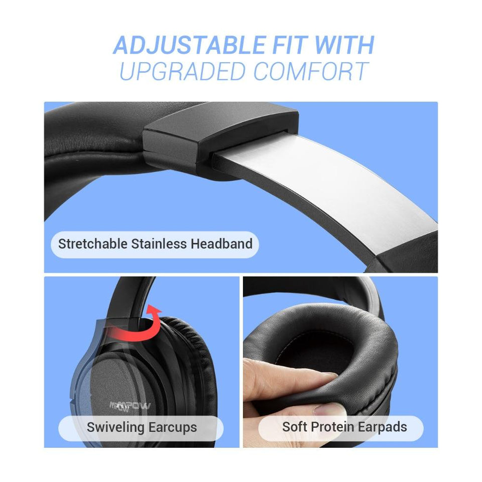 Wireless/Wired Headphones Bluetooth Headset with Microphone For Tablet