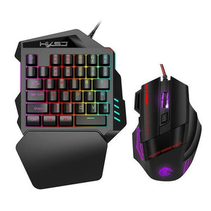 One-Handed Gaming Keyboard RGB Backlit Left Hand Portable Gaming