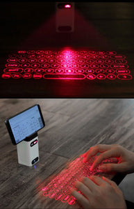 Virtual Laser Keyboard Bluetooth Wireless Projector Phone Keyboard For